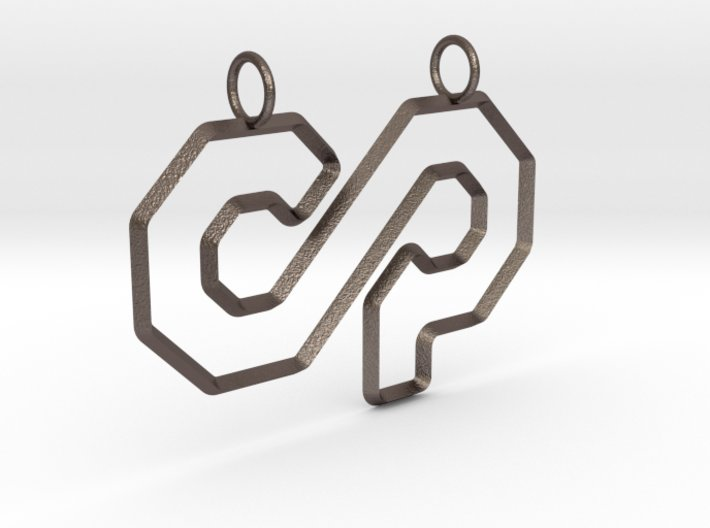 3 Sided Counterparty Logo Fixed Rings 3d printed