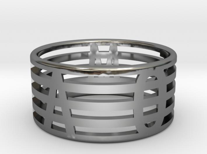 """See Through"" Ring 3d printed"