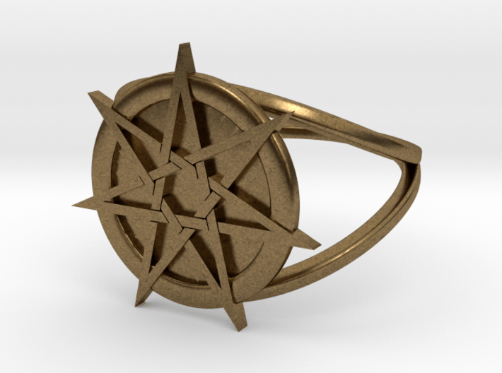 Fairy star ring (choose size)  3d printed