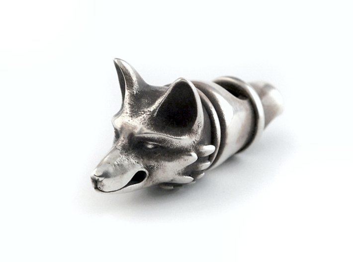 Silver Fox Whistle 3d printed (blackened with bleach)