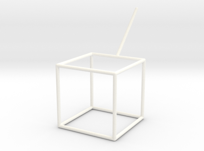 PlatonicSolid Cube For Soap 64mm 37mm Th2p0mm 3d printed