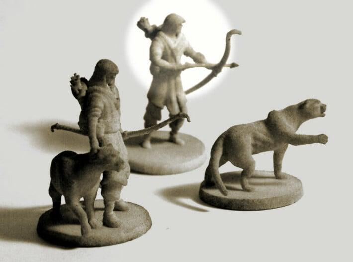 Elven Archer  (alone) 3d printed