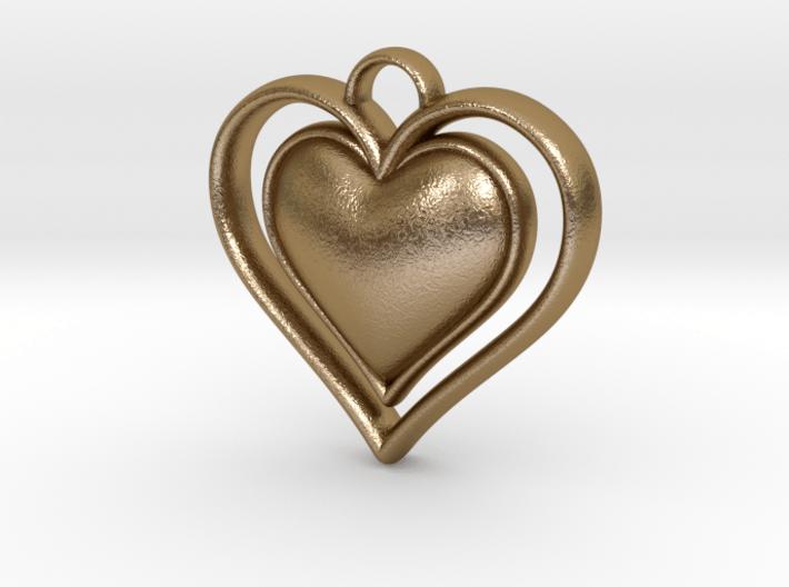 Framed Heart Pendant 3d printed