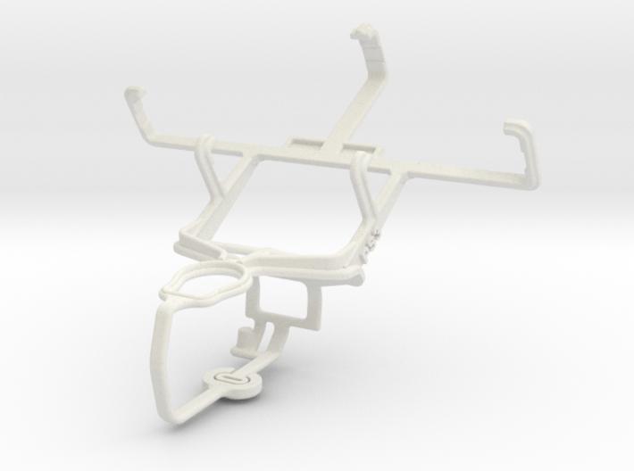 Controller mount for PS3 & Motorola ROKR E6 3d printed