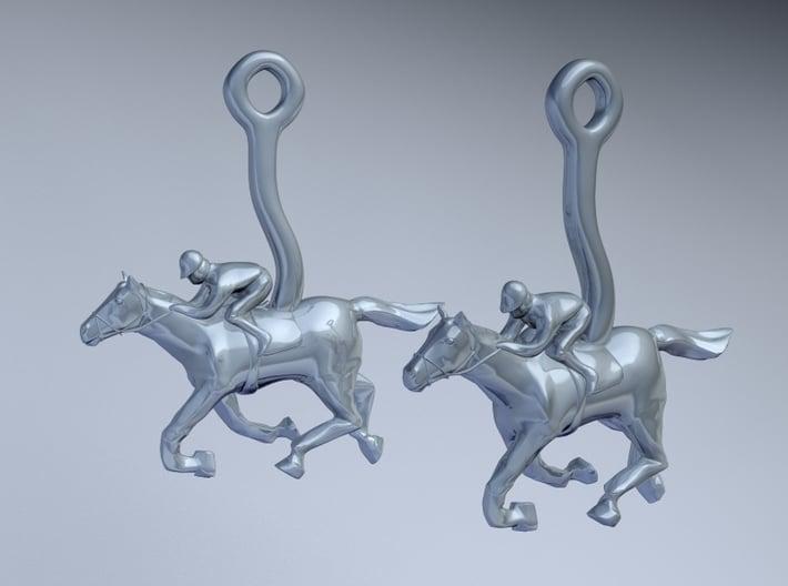 Horse Earrings 3d printed
