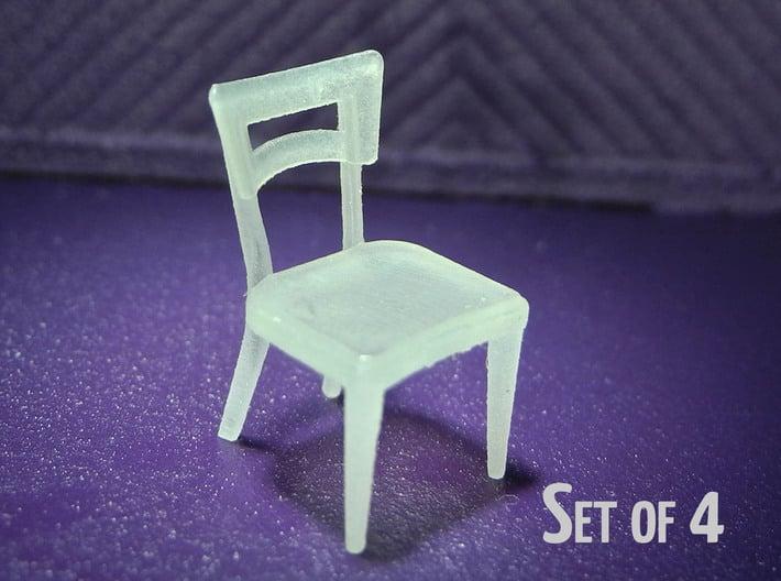 1:48 Dog Bone Chair (Set of 4) 3d printed