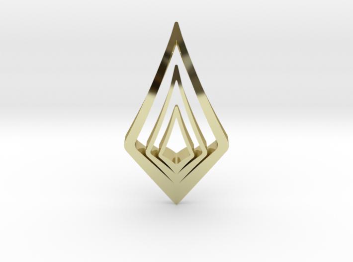 HIDDEN HEART Light, Pendant. Pure Chic 3d printed