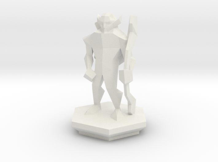 Low Poly Elf Ranger (Table-Top Alliance Base Unit) 3d printed