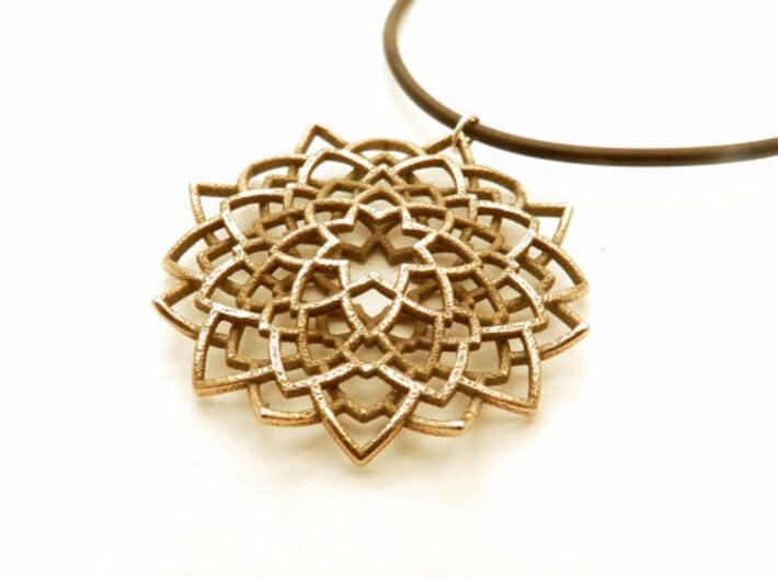 Mandala Flower Necklace 3d printed