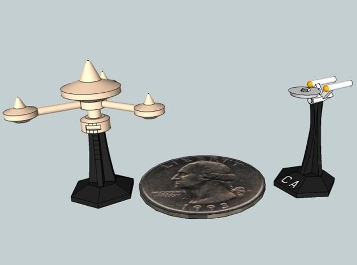 MicroFleet Starbases (4 pcs) 3d printed