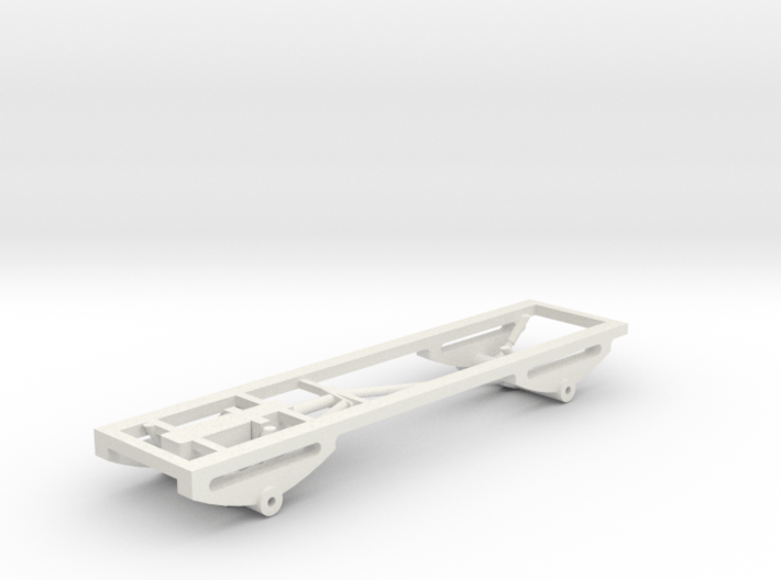 1/64 scale 4x4 Pickup Truck Frame and suspension 3d printed