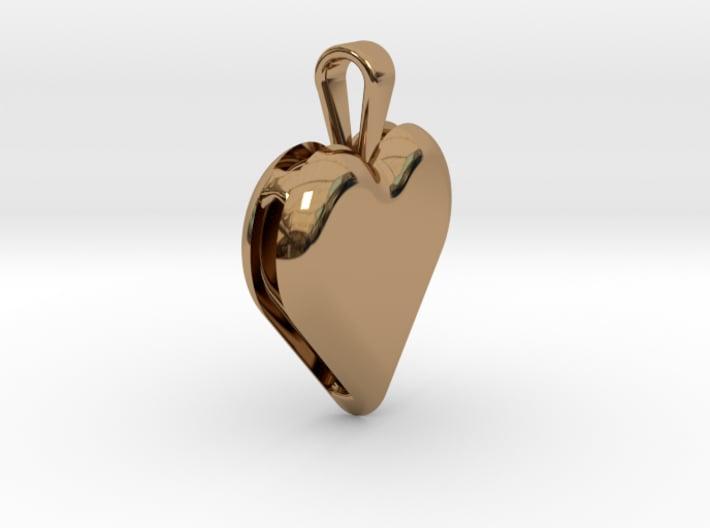 Double heart pendant 3d printed