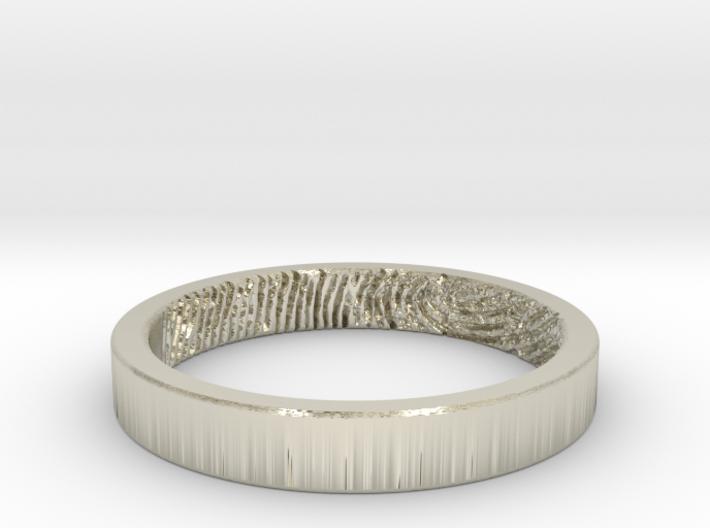 Fingerprint Ring - Hers 3d printed