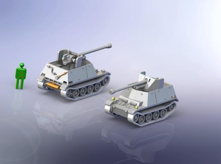 German Marder II (7,62cm (r)) Tank Hunter 1/285 6m 3d printed Add a caption...