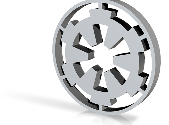 Imperial Cog (Small for tie) 3d printed