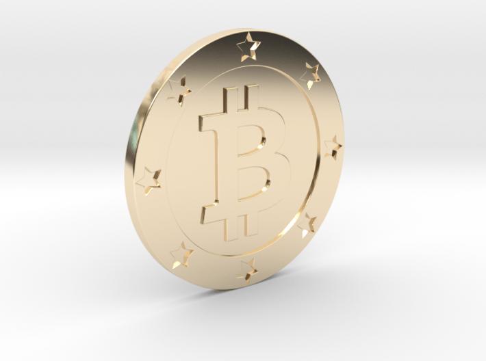 Bitcoin real coin 3d printed