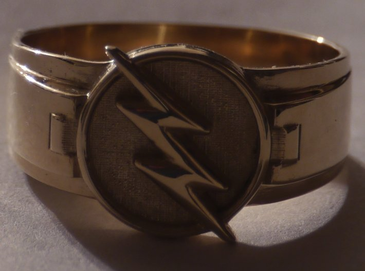 Reverse Flash Ring size 10 1/4 20mm  3d printed