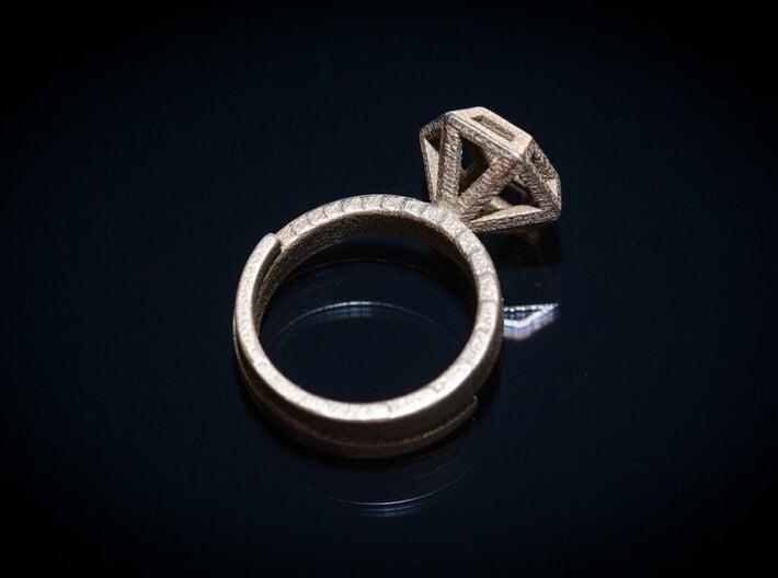 Diamond Ring US 7 3/4 3d printed