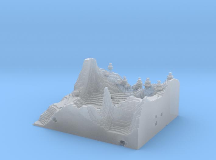 Minecraft 1.8 Two Hills season 1 (1 mm) 3d printed
