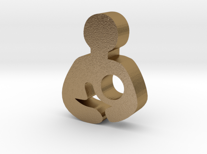 Breastfeeding Charm (Origami Owl) 3d printed