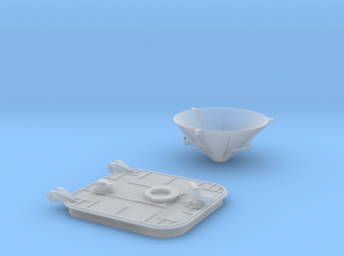 12-Hatch And Drogue 3d printed