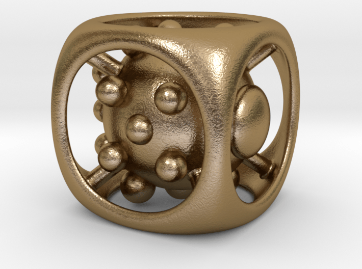 Dice No.1 M (balanced) (2.4cm/0.94in) 3d printed