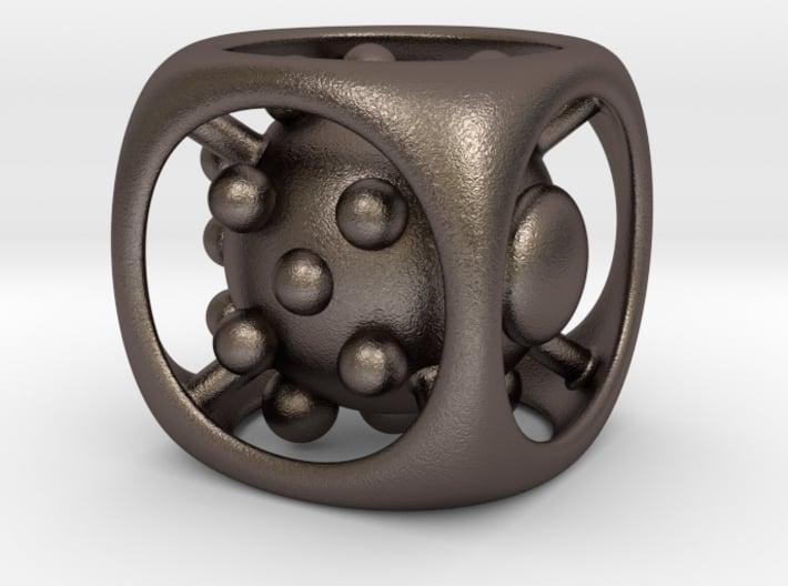 Dice No.1 L (balanced) (3.6cm/1.42in) 3d printed