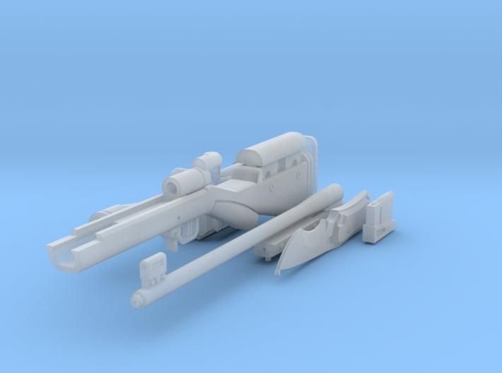 1:6 Mute Sniper Rifle + Dagger detail plastic vers 3d printed