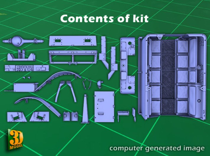 M5 IHC Halftrack conversion (1:35) 3d printed M5 conversionset parts