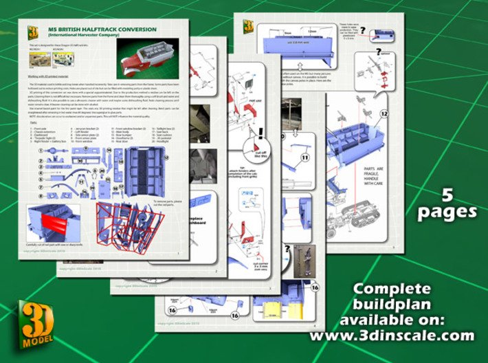 M5 IHC Halftrack conversion (1:35) 3d printed M5 conversionset builplan