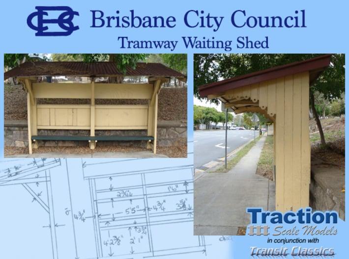 Brisbane Tram Shelter O scale 1:43 3d printed