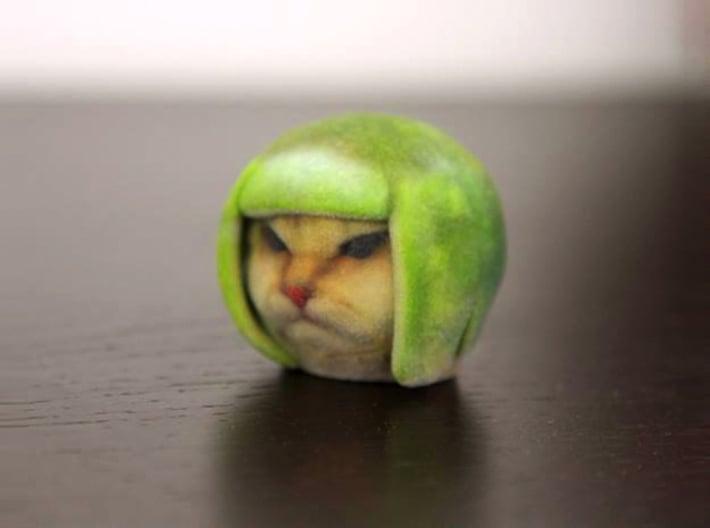 Lime Cat internet meme 3d printed grumpy lime cat
