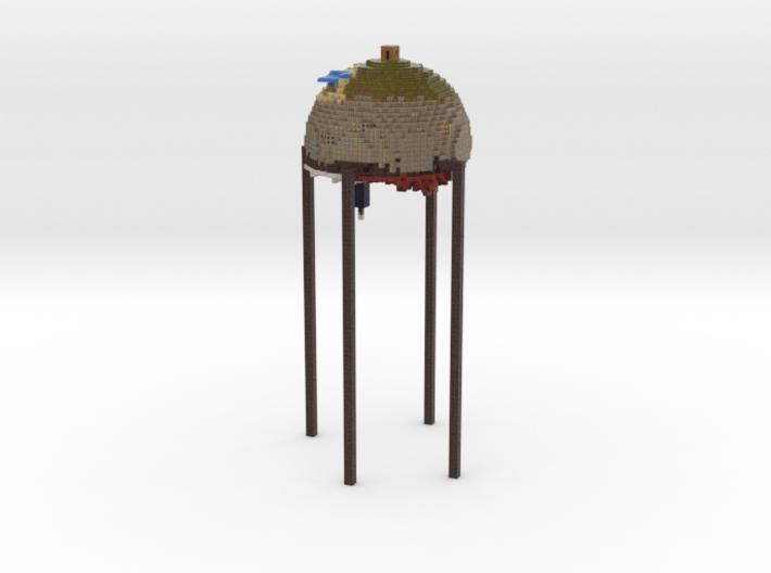 Minecraft world sphere #1 tiny pixels 3d printed