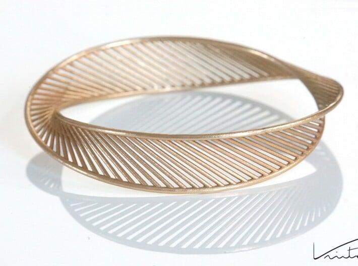 DNA Bracelet 3 3d printed Raw Bronze