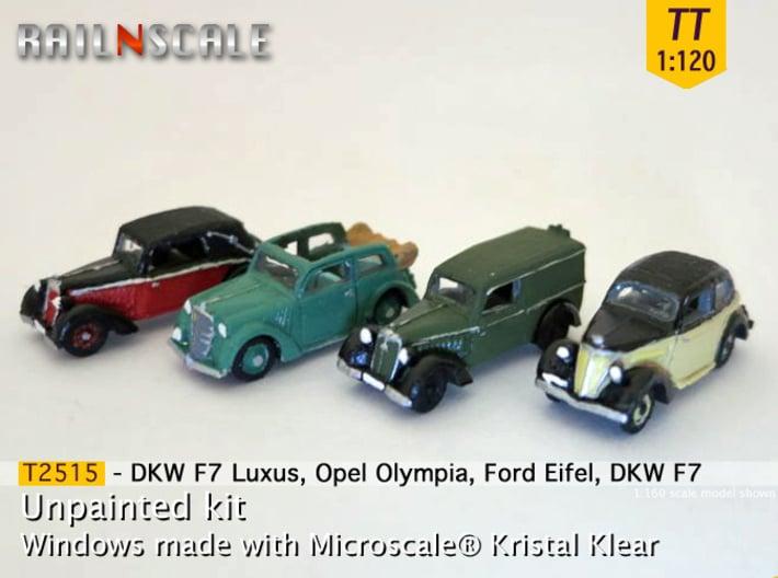 German 1930s cars (SET B) TT 1:120 3d printed