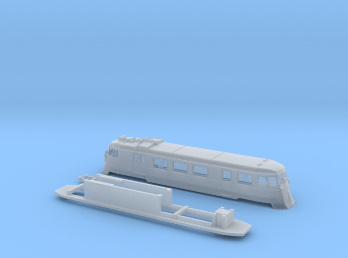 A150D with farings + chassis adaptor - Zm - 1:220 3d printed