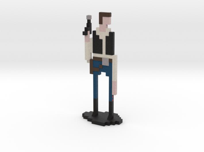 The Pixel Scoundrel 3d printed