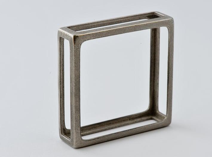 Bangle Bracelet - Get Squared! 3d printed