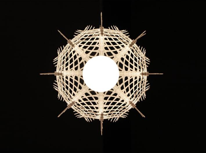 Vertebral 02 - Pendant Lampshade 3d printed