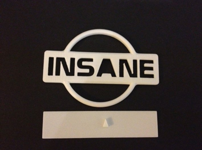 Nissan Insane Badge thinner version 2 3d printed