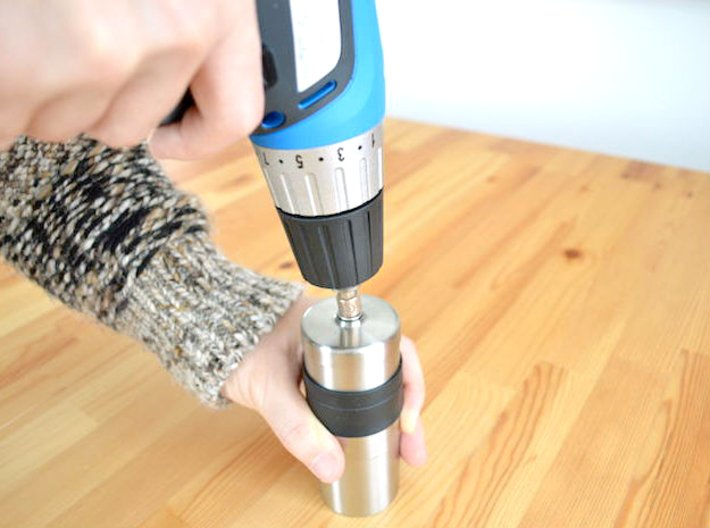Coffee Grinder Bit For Drill Driver CDP-L 3d printed Using Image