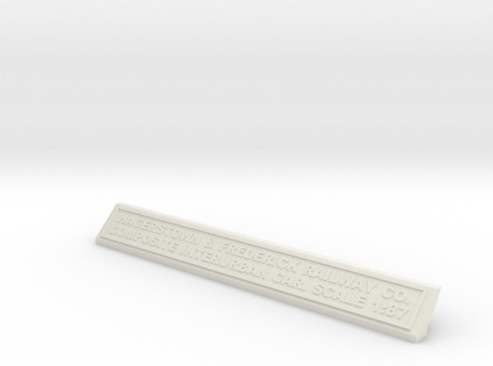 Base Nameplate HO H&F 3d printed