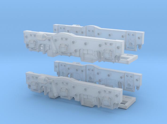 Baldwin DT6-6-2000 Side Frames X2 N Scale 1:160 3d printed