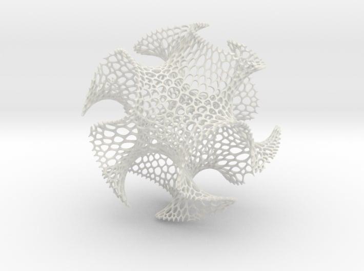 Spherical Voronoi - Gyroid 3d printed