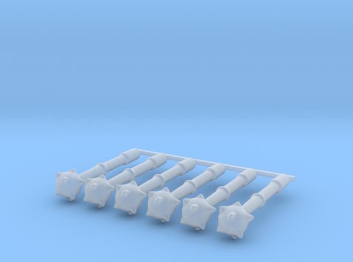 6 x Mace 3d printed