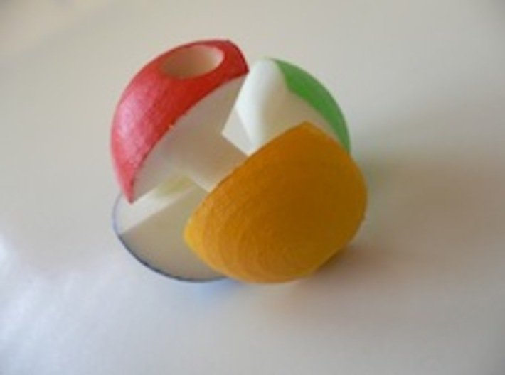 ALBIS BALL 3d printed Painted by the inventor