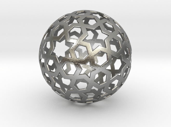 0027 Star Ball (Isotoxal Star Hexagons) 5cm #001 3d printed