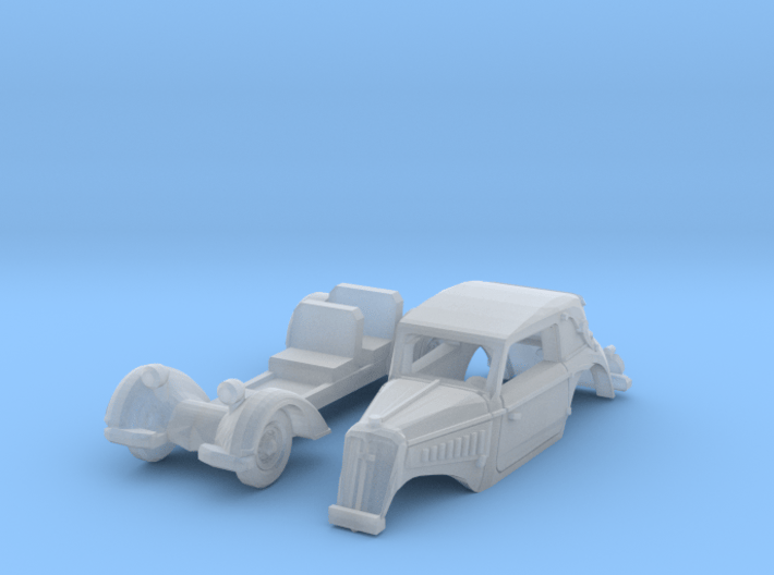 DKW F7 Front Luxus Cabriolet (N 1:160) 3d printed