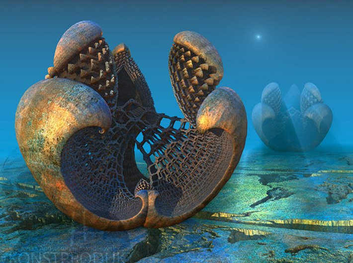Fractal Pendant - Libidinis Hexagonis Aerariu 3d printed The original artwork