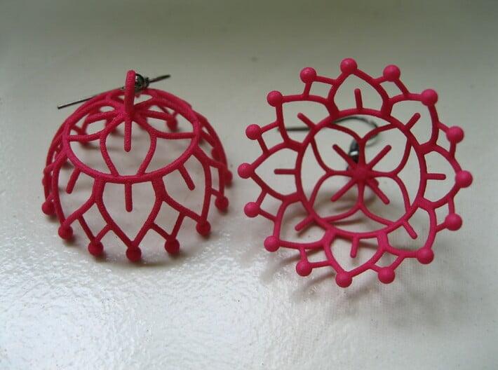 Lotus Jhumka - Indian Bell Earrings 3d printed